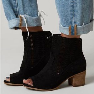 Not Rated Savio Faux Suede Open Toe Bootie